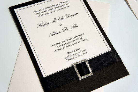 Traditional Elegant Wedding Invitations: Elegant Traditional Black And Ivory Classic By
