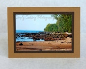 Rocky Shore photo card-set of 3