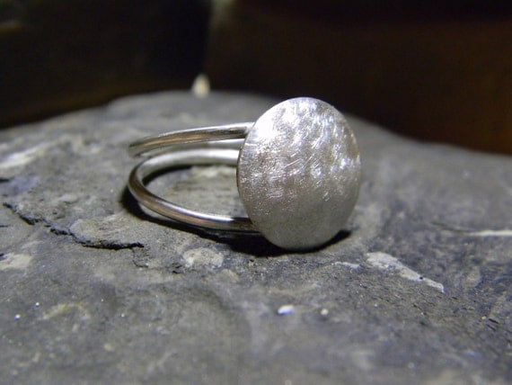 Sterling Silver Disc Ring