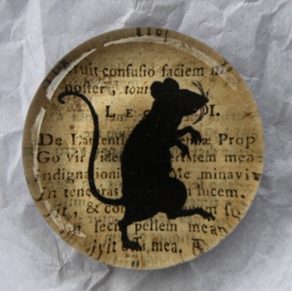 Large Glass Mouse Magnet
