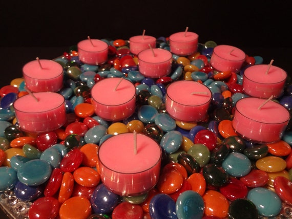 Strawberries and Cream One Dozen Tea Lights plastic cups All Natural Soy Candle created by Simple Aromas
