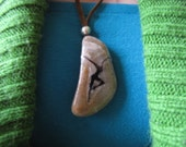 Dave Matthews Band Fire Dancer Polished Stone and Suede Cord Necklace