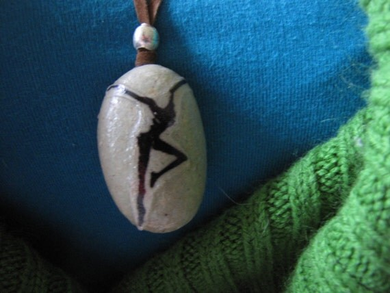 Dave Matthews Band Fire Dancer Stone and Suede Cord Necklace (Reserved for Nikki)