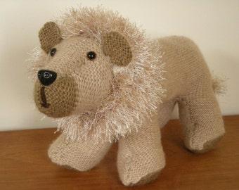 Handmade Tawny Scrawny Knitted Lion