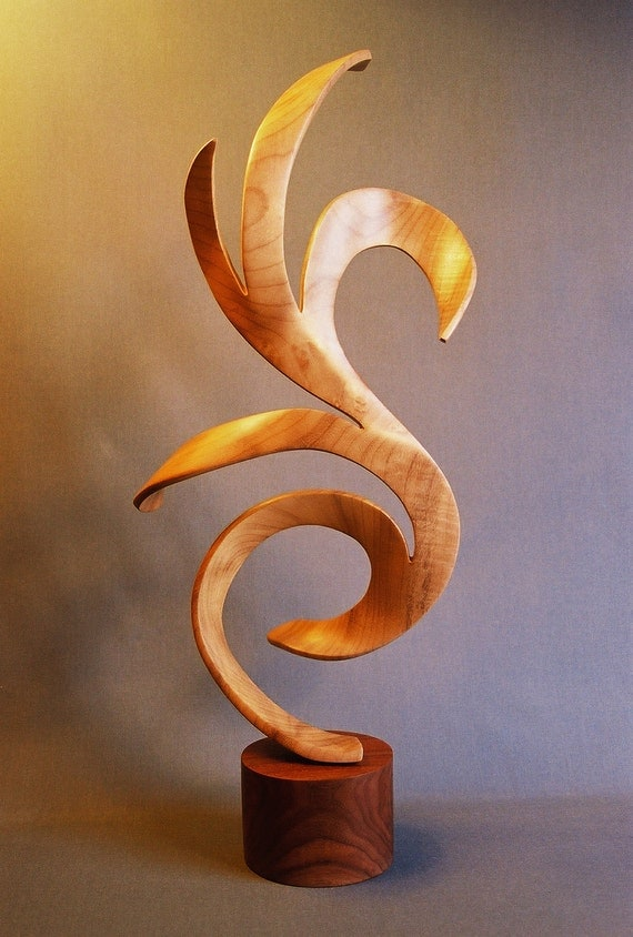 Items similar to cygnus hand carved wood sculpture on etsy