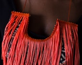 Florescent Fringe Necklace