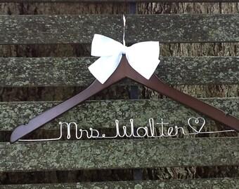 HUGE SALE Personalized Bridal Wedding Hanger. Bridal Hanger.Name Hanger. Wedding Hanger. Bridal Party