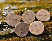 Handmade Spalted Cherry Buttons (Set of 5)