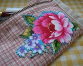 Traditional Chinese Something Blue Floral Zipper pouch for bridesmaid or bride