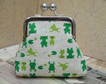Light Green Frog coin clutch purse