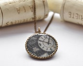 GOT TIME bronze necklace,  pendant in black and white europeanstreetteam