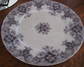 "Beautiful Vintage Plate Flow Purple Plate ""Keswick"" Royal Semi Porcelain England  1900s Purple Flowers"