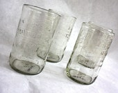 IBC cream soda Set of 4 bottle glasses tumblers recycled upcycled repurposed cups eco friendly gift wrapped