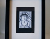 ACEO- Just One of those Days-Pen&Ink Print- Award Winner Illustrated ATC