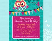 Custom Listing - S. Bryant: Lovely Owl Birthday Party Design Set (PRINTABLE DOWNLOADS)