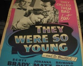 They Were So Young movie poster vintage 1955 bad girls classic Ultra Rare Original Raymond Burr