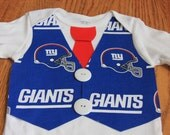 New York Giants Super Bowl Champions boys Vest and Tie onesie or shirt