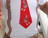 Sock Monkey Tie and Suspenders Onesie or shirt