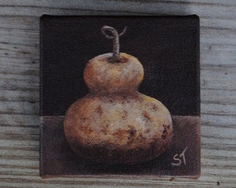 Mini Canvas Gourd Painting