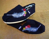 Feather and Rose TOMS