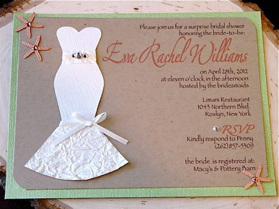 "Bridal Shower Invitation. . .""The Dress"""