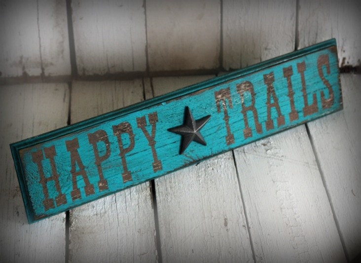 Reclaimed painted and distressed wood sign by MannMadeDesigns4