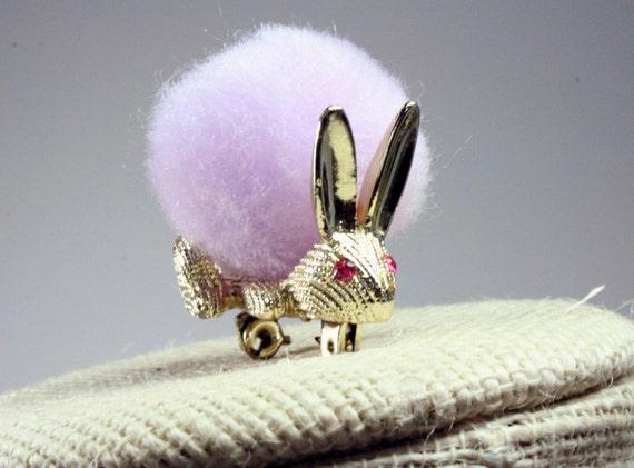 Vintage Pom Pom Bunny Pin