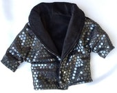 American Girl Doll Sparkly Black Coat