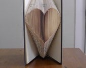 Heart - Folded Paper Book - Unique Handmade Gift
