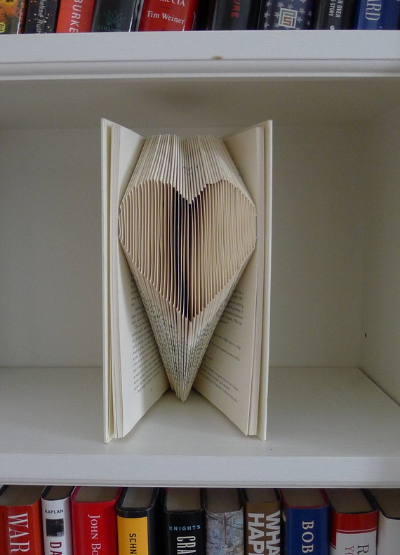 Unique Wedding Gift - Heart - Folded Paper Book -  Baby / Bridal Shower - Anniversary - Birthday