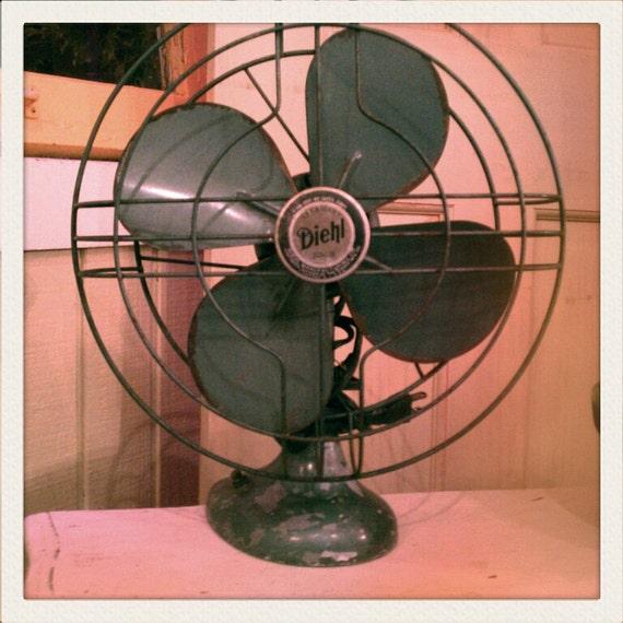 Vintage Diehl Fan green