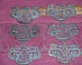 Antique Federal Backplates & Bails Brass with  Heavy Patina