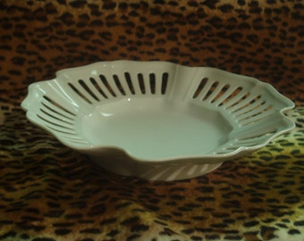 Vintage White cut-out Dish - Made by KOS