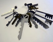 Big Keys - Giant metal keys sculpture in mixed metals