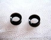 """5/8"""" Black Plastic Ear Plug Tunnel"""