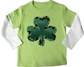 Lime Green St Patrick's Day Tee with Shamrock