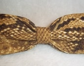 Bowtie Made From RATTLESNAKE Fabric - Show Your Sly Style by Wearing this Cool Bow Tie before you Slither - U.S.SHIPPlNG ONLY 1.99