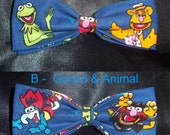 BowTies Made From Muppets Fabric - Show Everyone You Love the Muppets by Wearing One of These Humerous, Colorful Bow Ties - 1.49 SHIPPING