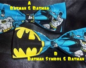 BowTies Made From Batman Fabric - These Cool Ties Have A Great Retro Feel - Choose From 3 Attractive Bow Ties - U.S. SHIPPING ALWAYS 1.49