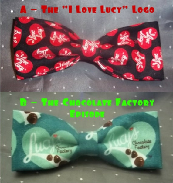 BowTies Made From I Love Lucy Fabrics - Show Your Love For One of The Greatest Sit-Coms with one of these Classic Bow Ties - 1.99 SHIPPING