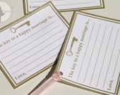 Bridal Advice Cards- Keys to a happy marriage: (Printable Edition)