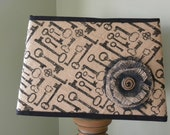 Key Printed Burlap Lamp Shade