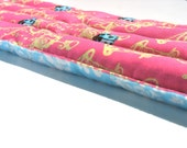 Heating Pad, Pink and Sky Blue, Unique, Natural Aromatherapy Heat Pad, Back , Lower Back, Neck, Sore Muscles