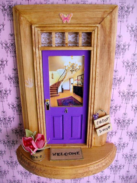 Fairy door purple winding staircase for Purple fairy door