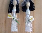 The Girls-Cake Topper Set-Handmade Embroidery Girls-Bachelorette-Bridesmaids-Party favor-lesbian couple-Cupiescouples Original