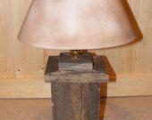 Weathered Wood Lamp