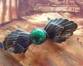 Vintage Steve Francisco Hand Made Sterling Silver Native American Brooch Pin