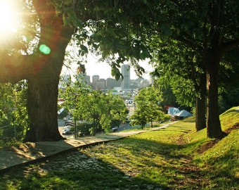 SALE Richmond Virginia Park View of the City, 8x10 photo, Frame Available