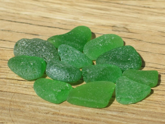 Sea Glass Supplies - Emerald and Kelly Green