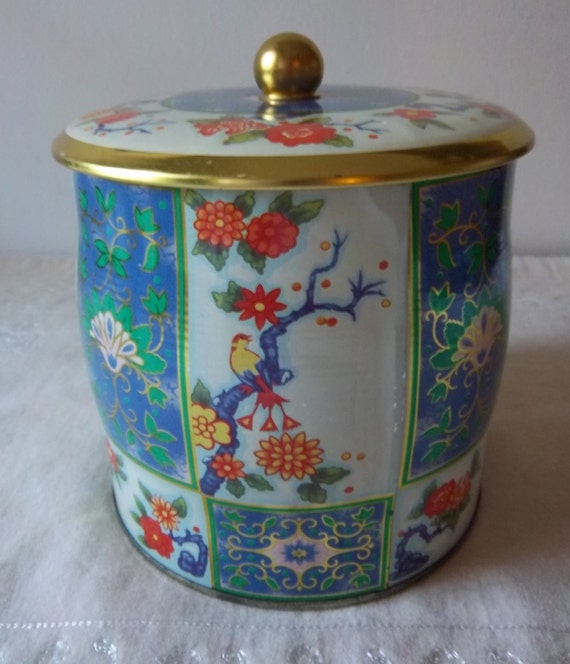 Fidelis Art Floral Gold Toned Tin